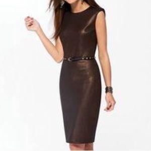 CACHE Bronze Metallic dress